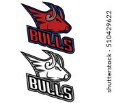 bull mascot for sport teams ... | Shutterstock . vector #510429622