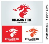 Stock vector dragon fire logo design template vector illustration 510441298