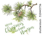 merry christmas greeting card... | Shutterstock .eps vector #510445756
