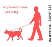 silhouette of a man walking a... | Shutterstock .eps vector #510454855