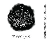 thank you card with sketched... | Shutterstock . vector #510458836