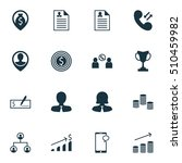 set of hr icons on cellular... | Shutterstock .eps vector #510459982