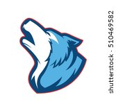 howling wolf   Shutterstock .eps vector #510469582