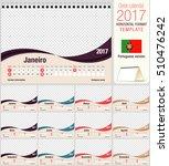 desk triangle calendar 2017...   Shutterstock .eps vector #510476242