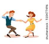 vector illustration of dancing... | Shutterstock .eps vector #510477496