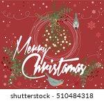 merry christmas vintage card... | Shutterstock .eps vector #510484318