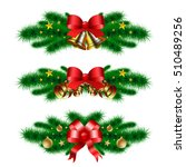 christmas decoration with fir... | Shutterstock .eps vector #510489256