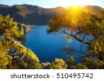 turkish landscape with olympos... | Shutterstock . vector #510495742