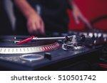 turntable dj vinyl record... | Shutterstock . vector #510501742