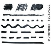 black marker lines collection.... | Shutterstock .eps vector #510514222
