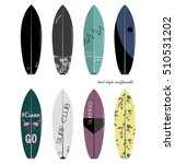 set of surfboards with original ... | Shutterstock .eps vector #510531202