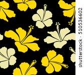 vector hibiscus floral pattern. ... | Shutterstock .eps vector #510536602