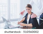 sexual harassment at work ... | Shutterstock . vector #510560002