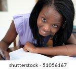 portrait of a cheerful teen... | Shutterstock . vector #51056167
