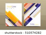 set of modern geometric... | Shutterstock . vector #510574282