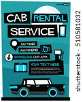 cab rental service anytime... | Shutterstock .eps vector #510581032