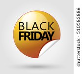 black friday icon. black friday ... | Shutterstock .eps vector #510582886