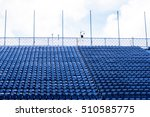 blue color of many grandstand... | Shutterstock . vector #510585775