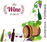 corner frame of wine icons....   Shutterstock . vector #510586606
