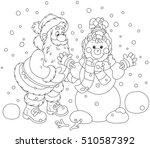 Santa Claus Making A Funny...