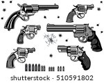 guns  revolver collection set... | Shutterstock .eps vector #510591802