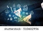 man touching technology smart... | Shutterstock . vector #510602956
