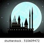 beautiful halloween background... | Shutterstock . vector #510609472