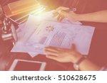 business team working on laptop ... | Shutterstock . vector #510628675
