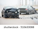 Car Crash Accident On Street...