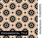 ornamental victorian mosaic... | Shutterstock .eps vector #510635092
