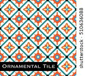 ornamental victorian mosaic... | Shutterstock .eps vector #510636088