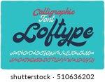 vintage bold calligraphic brush ... | Shutterstock .eps vector #510636202