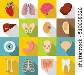 human organs icons set. body ... | Shutterstock .eps vector #510638326
