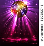 Sparkling Disco Ball. Night...