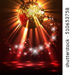 sparkling disco ball. night... | Shutterstock .eps vector #510653758