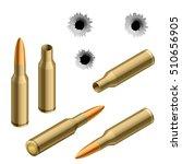 isometric vector shot gun... | Shutterstock .eps vector #510656905