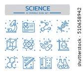 doodle vector line icons set of ... | Shutterstock .eps vector #510658942