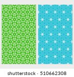 set of abstract geometry flower ... | Shutterstock .eps vector #510662308