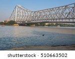 historic howrah bridge on river ...   Shutterstock . vector #510663502