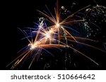 colorfull firework on a black... | Shutterstock . vector #510664642