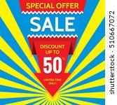 sale vector banner design  ... | Shutterstock .eps vector #510667072