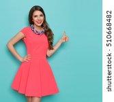 smiling attractive woman in... | Shutterstock . vector #510668482