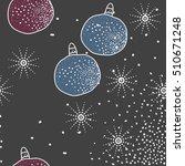 pattern of christmas  motifs ... | Shutterstock .eps vector #510671248