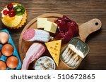 foods rich in cholesterol as... | Shutterstock . vector #510672865