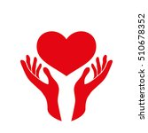 heart in the hands vector icon. ... | Shutterstock .eps vector #510678352