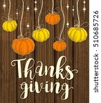 orange and yellow pumpkins on a ... | Shutterstock .eps vector #510685726