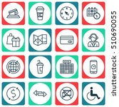 set of transportation icons on... | Shutterstock .eps vector #510690055