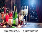 close up view of champagne with ... | Shutterstock . vector #510693592
