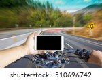 man using a phone while riding... | Shutterstock . vector #510696742
