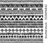 black and white color tribal... | Shutterstock .eps vector #510696832